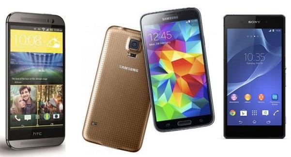 HTC One (M8), Samsung Galaxy S5, Sony Xperia Z2 : les avis de la rédaction FrAndroid !