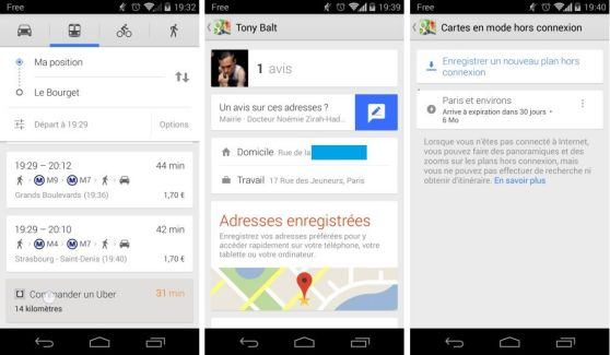 Google Maps 8.0 intègre Uber et les cartes hors-ligne
