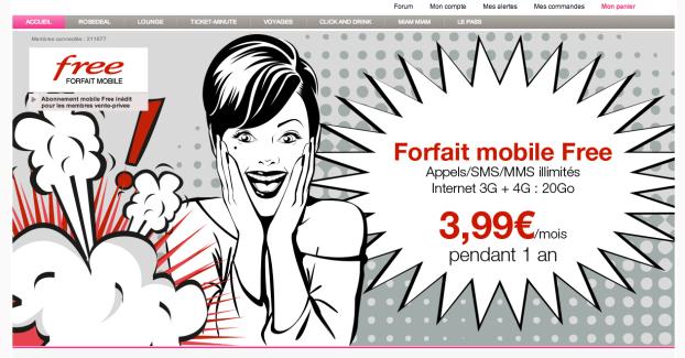 Bon plan : 3,99 €/mois au lieu de 19,99 €/mois pendant 1 an chez Free Mobile