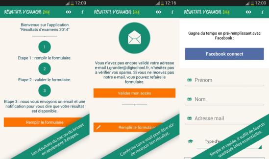 BAC et Brevet : Les résultats sur une application Android !