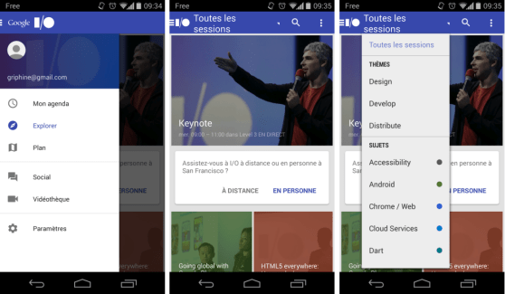 Google I/O 2014 : l'app officielle est disponible sur le Play Store