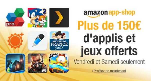 Soldes : Amazon offre 150 euros d'applications sur son App-Shop
