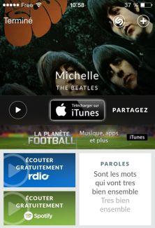 Shazam permettra bientôt d'écouter l'intégralité d'une chanson sur Rdio