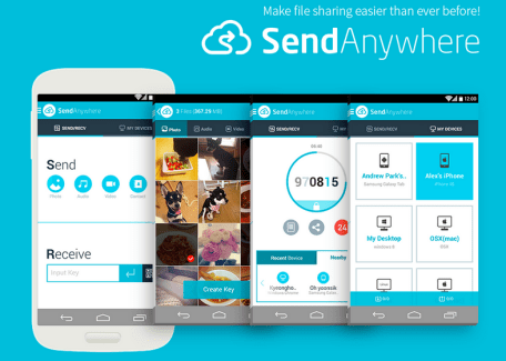 Send Anywhere, le Peer-To-Peer au service du mobile