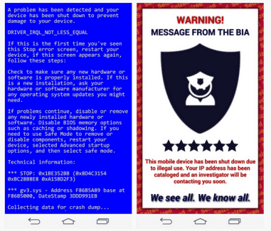 Comment piéger un ami avec le « Blue Screen of Death » ou un faux virus sur Android ?