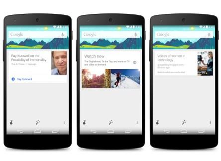Google Now va s'ouvrir aux applications tierces et promet du neuf pour 2015