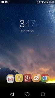 Blur : un lanceur d'application aux airs de Google Now Launcher