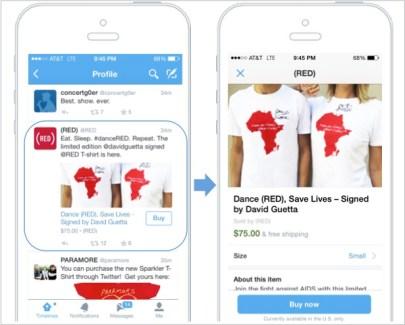 Twitter teste un bouton d'achat intégré à son application