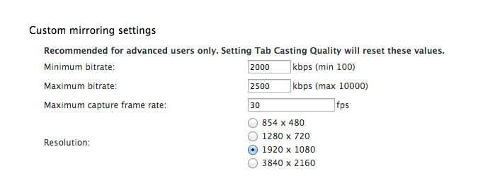 Chromecast : une extension Chrome peut diffuser en FullHD et 4K