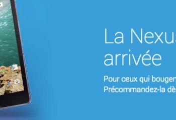 La Nexus 9 fait ses premiers pas sur le Google Play