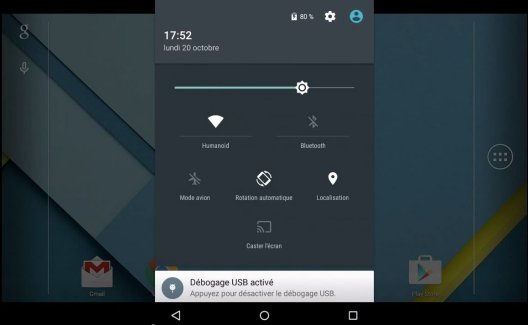 Android Lollipop : comment voir le pourcentage de batterie restante ?