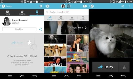 Relay GIF Messenger, la messagerie spécialisée dans les GIF