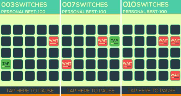 Switch joue avec votre dextérité et surtout votre avec patience