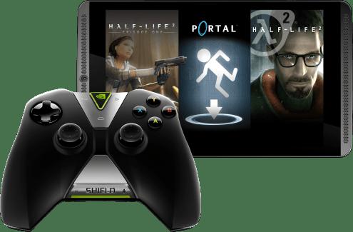 Une manette et des jeux offerts pour l'achat d'une Shield Tablet 4G 32 Go