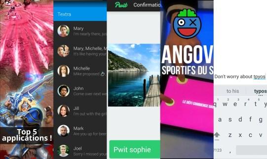 Les apps de la semaine : Battle of Heroes, Textra SMS, Pwit, Hangovr et le Clavier Google