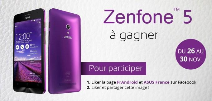 Jeu concours : vous pouvez remporter l'Asus Zenfone 5 !