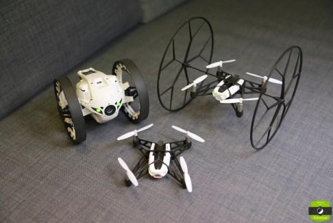 Test des Minidrones de Parrot, les Jumping Sumo et Rolling Spider