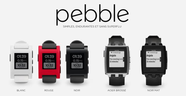 Les montres Pebble désormais en vente chez Bouygues Telecom