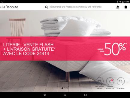 La Redoute : le shopping bien au chaud sur son canapé avec l'application mobile