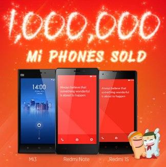 Un million de smartphones Xiaomi vendus en Inde en moins de 6 mois