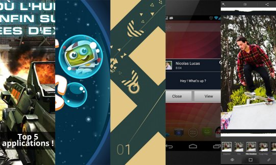 Les apps de la semaine : N.O.V.A 3, Hubble Bubbles, ULTRAFLOW, Popup Notifier Free et Adobe Photoshop Express