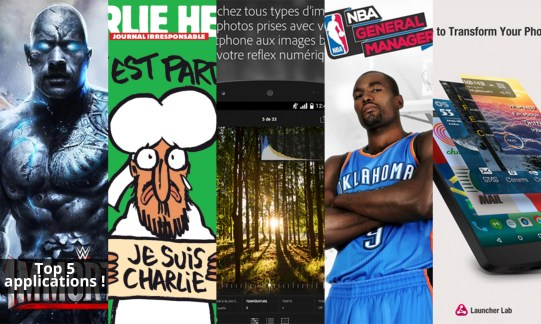 Les apps de la semaine : WWE Immortals, Charlie Hebdo, Adobe Lightroom mobile, NBA General Manager 2015 et Launcher Lab