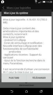 Le HTC One M8 reçoit actuellement Lollipop en France !
