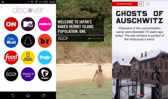 Snapchat lance officiellement Discover, son média (éphémère ?)