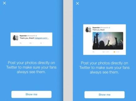 Twitter incite ses célébrités à moins utiliser Instagram