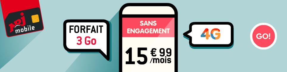 NRJ Mobile va proposer un forfait comprenant 3 Go de data en 4G en plus des appels et SMS/MMS illimités
