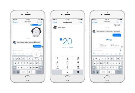 Facebook Messenger permettra bientôt d'envoyer de l'argent à ses amis