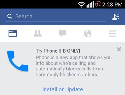 Phone, la future application Téléphone de Facebook est en développement
