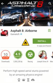 Google ajoute un icône «en feu» au Play Store