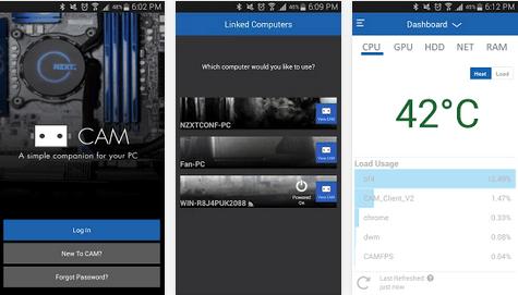 CAM Mobile permet de surveiller les signes vitaux de votre ordinateur depuis Android