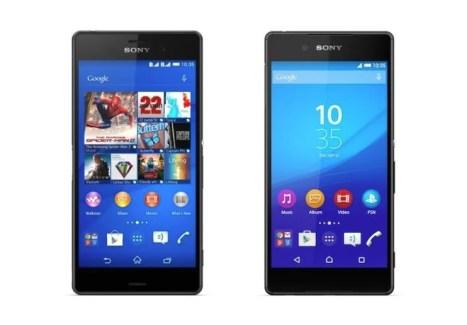 Comparatif : des Sony Xperia Z3 et Xperia Z4 aux différences minimes