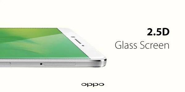 Oppo montre officiellement l'écran 2,5D de son R7