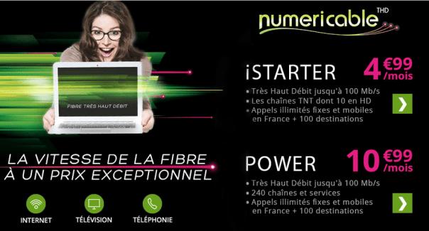 Bon plan : la Box Numericable est à 4,99 euros par mois pendant 1 an