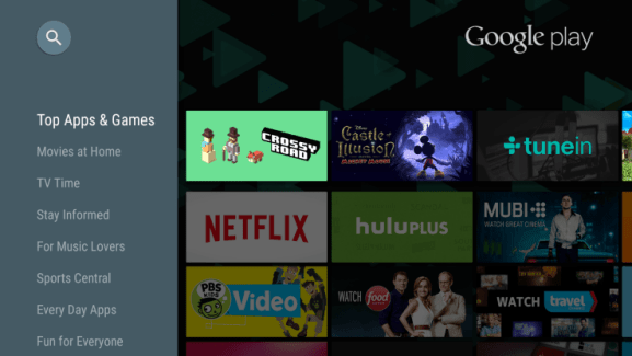 Play Store 5.5.15 : plus de 600 jeux et applications pour Android TV
