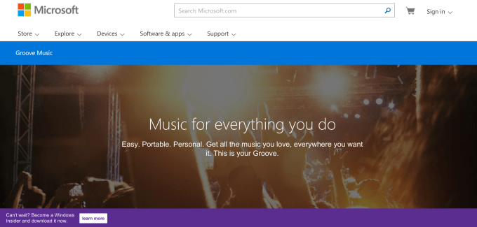 Microsoft Xbox Music devient Groove