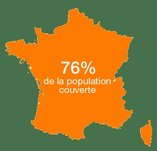 Orange couvre désormais 76 % de la population en 4G