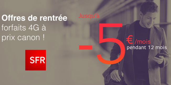 Les promotions SFR continuent : jusqu'à 5 euros de remise sur les forfaits mobiles