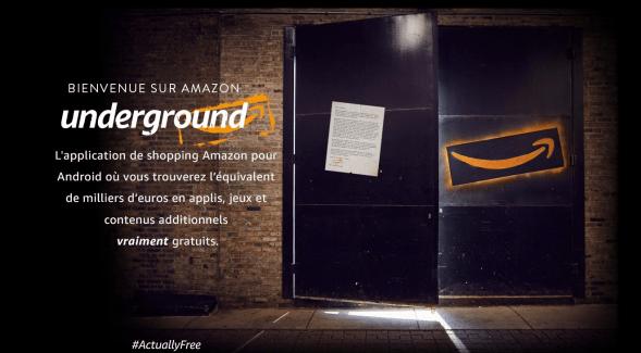 Amazon lance Underground, un nouveau service pour télécharger des apps gratuites