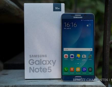 Prise en main du Samsung Galaxy Note 5, l'absent...