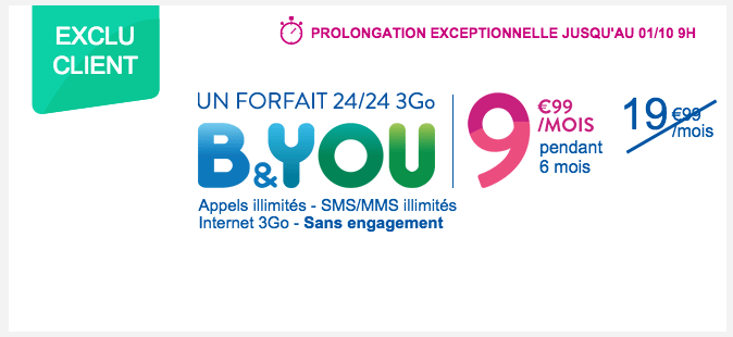 Bouygues Telecom : les forfaits mobiles à – 50 % sont prolongés jusqu'au 1er octobre