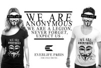 Des Anonymous font retirer des t-shirts Anonymous de la vente