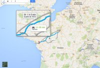 Google Maps incite à prendre l'avion