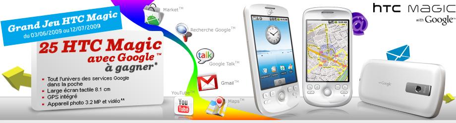 Gagnez 1 HTC Magic avec SFR!
