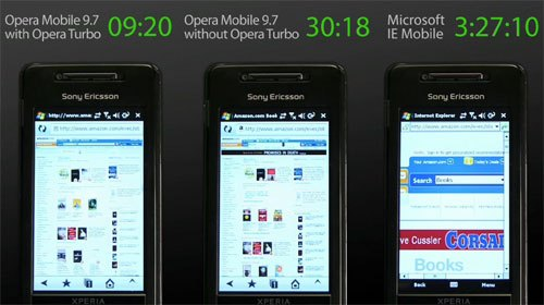 Opera Mobile 9.7 sur Android