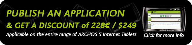 Archos officialise l'offre Archos à 1 euro