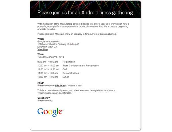 Nexus One : Suivez la conférence de presse Google en live